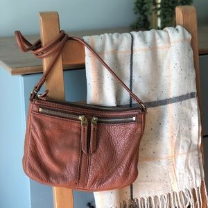 Fossil Soft Leather Crossbody Tote